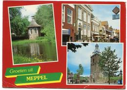 1985 Groeten Uit Meppel - 3 Foto's Op Gelopen Kaart - Uitgave Spanjersberg - Meppel