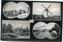 Groeten Uit Puttershoek - Nassaulaan - Boezemvliet - Molen De Lelie - 4 Foto's Op Ongelopen Kaart - Uitgave A Verzijl - Meppel