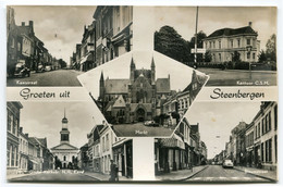 Groeten Uit Steenbergen - Blauwstraat - Kaaistraat - CSM - 5 Foto's Op Ongelopen Kaart - Uitg. JM Vermeulen 859 - Ref 1 - Pays-Bas
