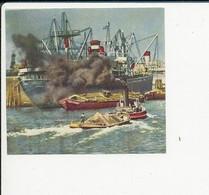 2 Vues Image Familia Chantier Maritime Chantier Naval Barge Port Remorqueur ?? Bateau Grue BN-05E - Vecchi Documenti