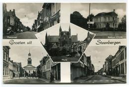 Groeten Uit Steenbergen - Markt - CSM Kantoor - N.H. Kerk - 5 Foto's Op Ongelopen Kaart - Uitg. JM Vermeulen 859 - Ref 2 - Pays-Bas