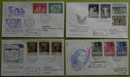 VATICAN - VATICANO / 1959 - 1966 ENSEMBLE DE 28 ENVELOPPES RECOMMANDEES  ILLUSTREES / 7 PHOTOS (ref 7170) - Storia Postale