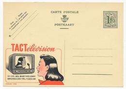 """BELGIQUE => Carte Postale - 1F20 Avec Publicité """"TACTélévision Bruxelles"""" - Publibel N° 1228 - Publibels"""