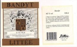 Etiquette BANDYT Littée à L'alcool De Canne  De Premiière Distillation  - 100cl 40% - Brandy Antillais -GUADELOUPE - - Rhum