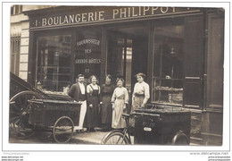 CPA Carte Photo Devanture De Boulangerie 1. Rue Gretry - Arrondissement: 02