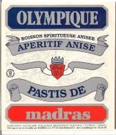 Etiquette Olympique - Apéritif Anisé - Pastis De  MADRAS -  GUADELOUPE - - Rhum