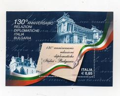 ITALIA - 2009 - Foglietto 130° Anniversario Relazioni Diplomatiche Italia - Bulgaria - Nuovo - (FDC24908) - Blocks & Sheetlets