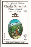 Etiquette  RHUM Agricole Réservé à L'hôtel Salako - Médaille 1983 - Les Grands  Rhums  Charles Simonnet - GUADELOUPE  - - Rhum