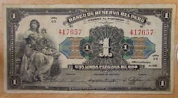 PEROU -  Surcharge 10 Soles ( ND-1935) Sur Un 1 Libra 1926.   P.061 - Peru