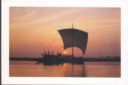 Bangladesh PPC Setting Sun & Boat Ship Schiff Bateau (2 Scans) - Bangladesh