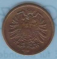 ALLEMAGNE – 2 Pfennig 1876 H - [ 2] 1871-1918: Deutsches Kaiserreich