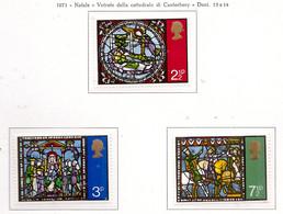 PIA - GRAN BRET - 1971 : Natale - Vetrate Della Cattedrale Di Canterbury-  (Yv  650-52) - Nuovi