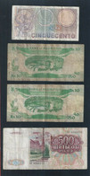 Old Mixed Banknote Lot - Mauritius, Russia CCCP & REPVBBLICA ITALIANA (#122) - Bankbiljetten