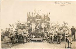 60 BEAUVAIS      Souvenir Du Catafalque Dans Le Cimetière Militaire De BEAUVAIS - Beauvais