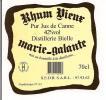 Etiquette   Distillerie Bielle : Rhum  Vieux 42° 70 Cl - Marie Galante - GUADELOUPE - - Rhum