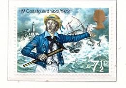PIA  - GRAN BRETAGNA -  1972  :  150° Anniversario Della Creazione Dei Guardiacoste Britannici  - (Yv 658) - Nuovi