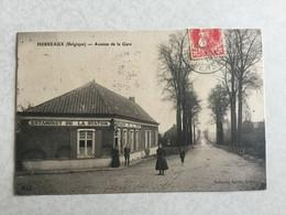 HERSEAUX  ( BELGIQUE ) AVENUE DE LA GARE  1911  ( AVEC L' ESTAMINET DE LA STATION ) - Mouscron - Moeskroen