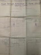 """Plan D' Architecte : Fosse Septique Automatique & Filtre D' Oxydation, """"Septic Tank"""" (Échelle : 0,05 P.M. - 77x71 Cm - 1 - Architecture"""