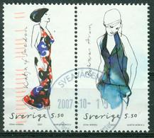 Bm Sweden 2007 MiNr 2603-2604 Se-tenant Used | Swedish Fashion Design - Gebraucht