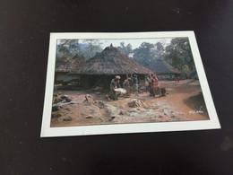 Côte D'Ivoire - Village De GOLOUTOULO - Pilage Et Vannage Du Riz Par Les Femmes  En L Etat Sur Les Photos - Costa D'Avorio