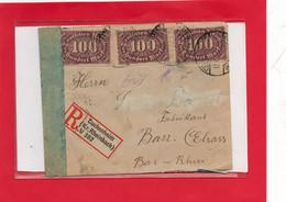 Lettre Recommandée D'Allemagne Pour BARR . 2 Scan - Sellos