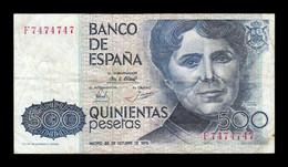 España Spain 500 Pesetas Rosalia 1979 Pick 157 Serie F Capicua BC+ VF+ - [ 4] 1975-… : Juan Carlos I