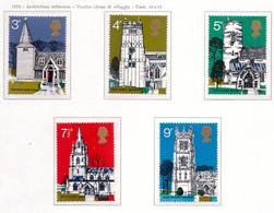 PIA - GRAN BRET - 1972 : Architettura Britannica - Vecchie Chiese Di Villaggi-  (Yv  660-64) - Nuovi