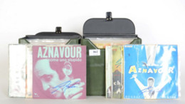 Charles AZNAVOUR - Rare Collection De 76 Vinyles 45T Tous Dédicacés - Volledige Verzamelingen