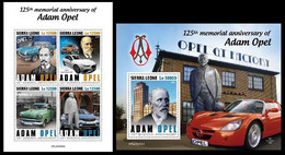 Sierra Leone. 2020  125th Memorial Anniversary Of Adam Opel. (0402ab) OFFICIAL ISSUE - Autos