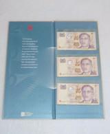 SINGAPORE DRAGON THE NEW MILLENNIUM 2000 SET OF 3 PCS. S$2 PAPER MONEY BANKNOTE (#2) - Singapore