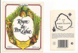 Etiquette  RHUM Du Père Labat - Agricole De Marie Galante - La Guildive - 50° 100 Cl - Distillerie Poisson  GUADELOUPE - - Rhum
