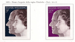PIA - GRAN BRET - 1972 : Nozze D'argento Della Coppia Reale -  (Yv  672-73) - Nuovi