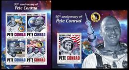 Sierra Leone. 2020  90th Anniversary Of Pete Conrad. (0413ab) OFFICIAL ISSUE - Espace