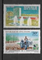 1966 - N ° 248 + 253** MNH - Hôtel Ivoire - 6 Ans Indépendance - Costa D'Avorio (1960-...)