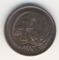 AUSTRALIA 1972: 1 Cent, KM 62 - Decimal Coinage (1966-...)