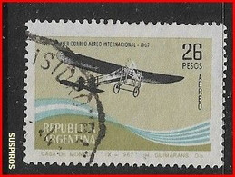 ARGENTINA 1967 Airmail - The 50th Anniversary Of The First Argentine-Uruguay Airmail Flight  USED GJ 1418 - Argentine