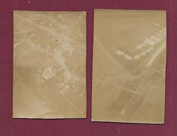 180920 - 2 PHOTOS ANCIENNES 1915 GUERRE 14 18 - 60 BREUIL LE SEC Champ D' Aviation Vue Prise En Avion MF - Other Municipalities