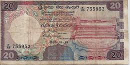 CEYLAN – 20 Rupees (01/01/1985) - Sri Lanka