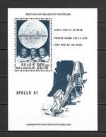 Belgium 1969 Space - APOLLO 11 - Moon Landing MS MNH - Europe