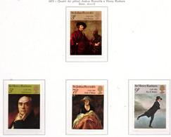 PIA - GRAN BRET - 1973 : Quadri Dei Pittori Joshua Reynolds E Henry Raebura -  (Yv  687-90) - Nuovi