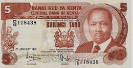 KENYA – 5 Shilings (01/01/1981) - Kenia