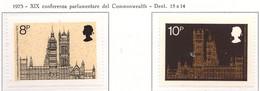 PIA - GRAN BRET - 1973 : XIX Conferenza Parlamentare Del Commonwealth-  (Yv  695 + 96 - Nuovi