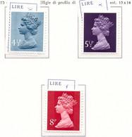 PIA - GRAN BRET - 1973 : Francobolli Di Uso Comune In Moneta Decimale - Regina Elisabetta -   (Yv  697-99) - Nuovi