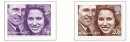 PIA - GRAN BRET - 1973 : Nozze Della Principessa Anna Con Il Capitano Mark Phillips-   (Yv  700-01) - Nuovi
