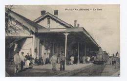 34--PAULHAN : La Gare--RECTO /VERSO B94 - Paulhan
