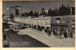 Israel Jerusalem Jaffaroad With The Pillars Bus Car Shop Postcard - Israël