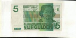 Pays-bas - Netherlands Billet De 5 Gulden Type 1973 Vondel II  TTB+  Sept 2020  Clas Noir 21 - Netherlands