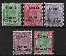SOMALILAND 1903 OFFICIALS SET SG O6/O9f UNMOUNTED MINT/MOUNTED MINT Cat £28 - Somaliland (Protectorate ...-1959)