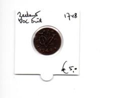 NEDERLAND ZEELAND VOC DUIT 1748 - [ 5] Monnaies Provinciales