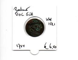 NEDERLAND ZEELAND VOC DUIT 1734 - [ 5] Monnaies Provinciales